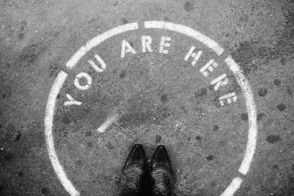Remember that you are here in this very moment.