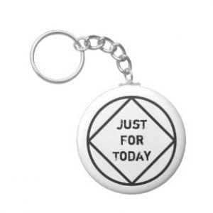 """just for today"" narcotics anonymous key ring"